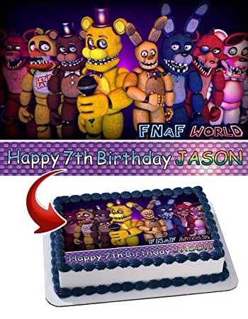 Five Nights at Freddy's FNAF Birthday Cake Personalized Cake