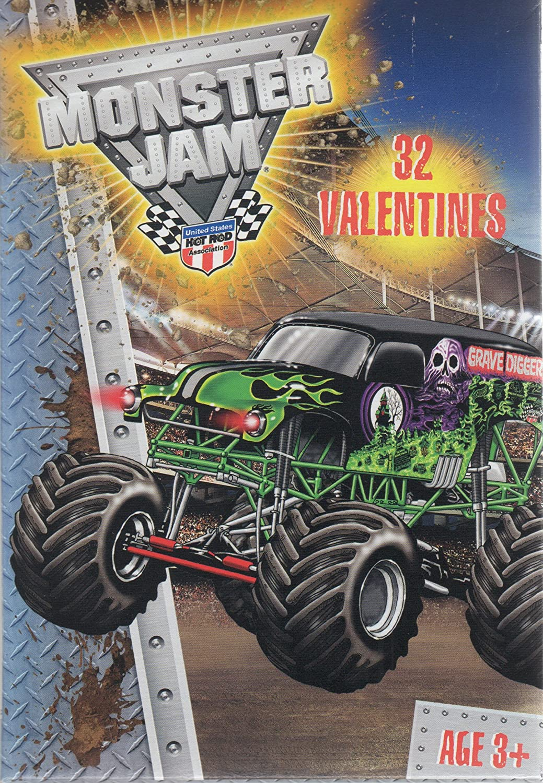 Amazoncom  Monster Jam Trucks Valentine Cards 32 Count  Office
