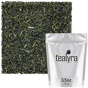 Tealyra - Gyokuro Ureshinocha - Japanese - Finest Hand Picked - Green Tea - Organically Grown - Loose Leaf Tea - Caffeine Level Medium - 100g (3.5-ounce)