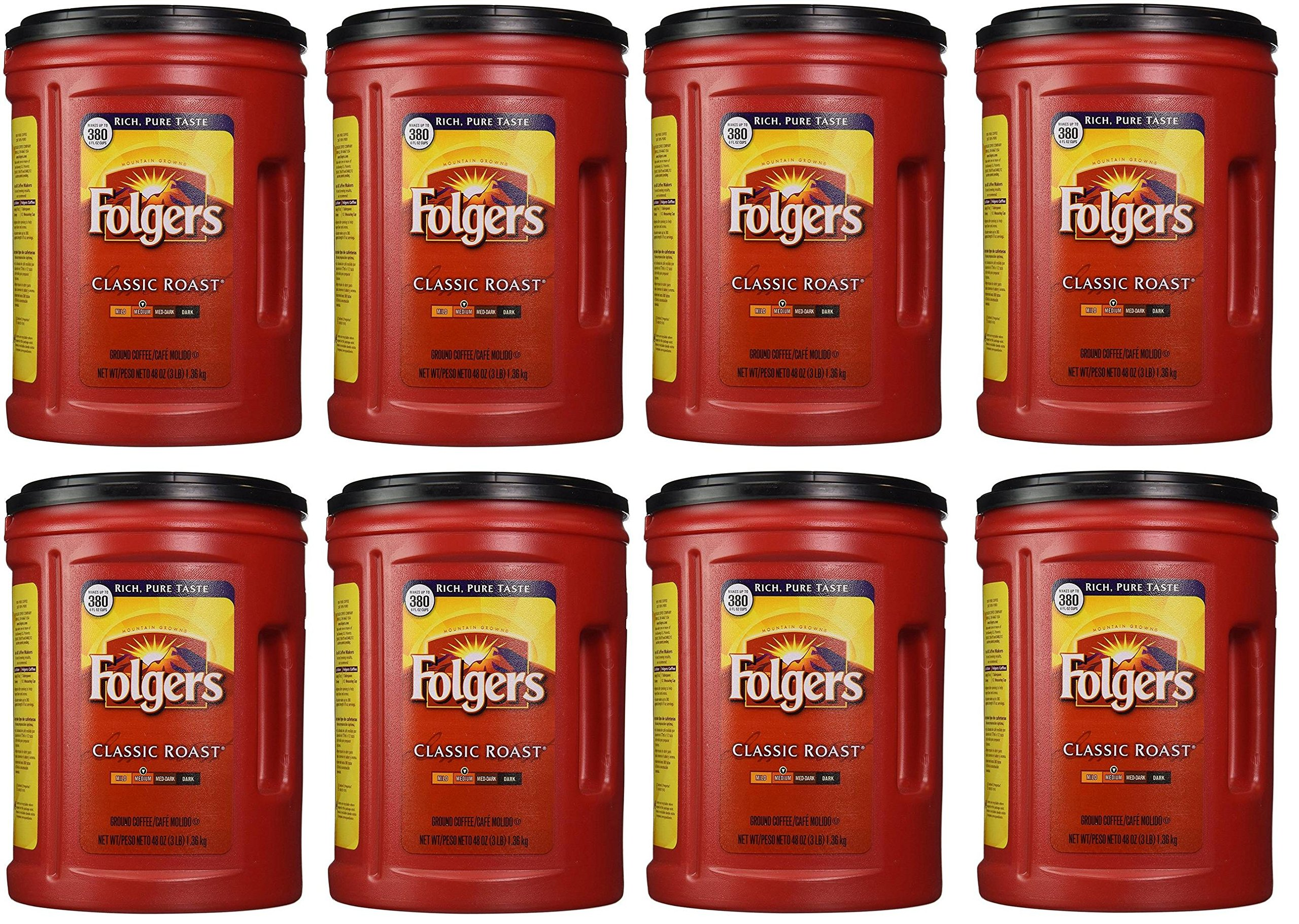 Folgers Coffee, Classic(Medium) kqFKHH Roast, 48 Ounce, 8 Pack