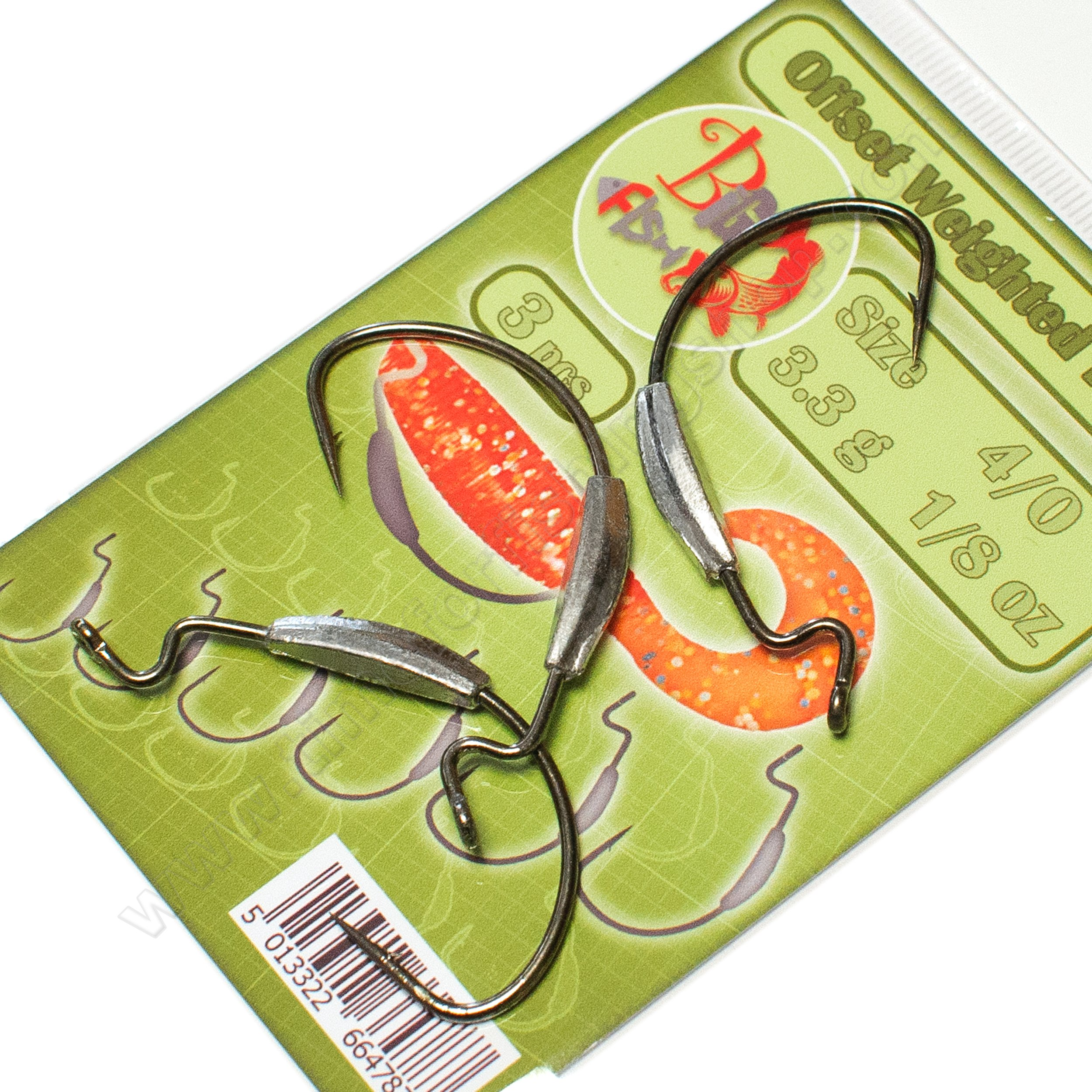 Offset Hooks Weighted Wide Gap Weedless Soft Lures Bait Worm Pike Fishing