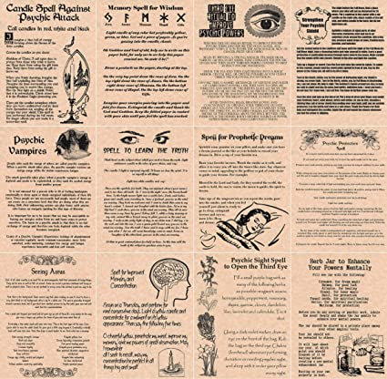 Book of Shadows Spell Pages, 12 Psychic Spells, Wicca, Witchcraft, Real  Spells (Copper)