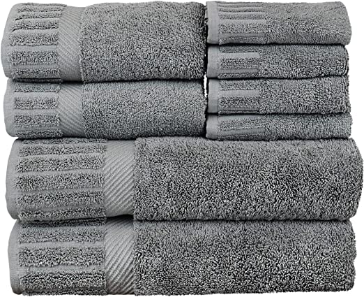 Plum Set of 2 Dobby Border BC BARE COTTON Collection Luxury Hotel /& Spa Towel 100/% Turkish Cotton Bath Mats