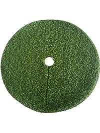 Zen Garden Artificial Grass Christmas Tree Skirt W Anti Slip Rubber Base 48