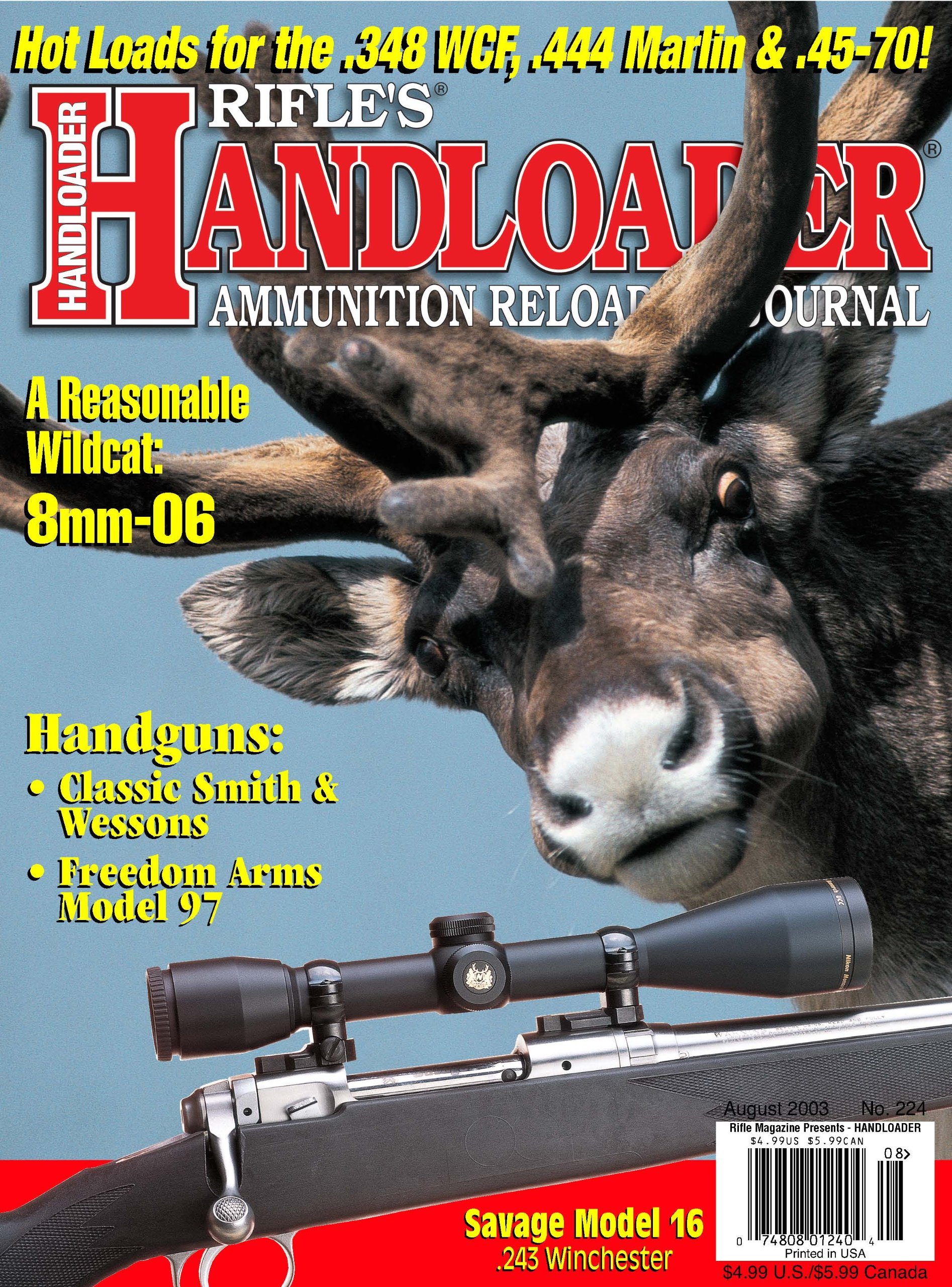 Download Handloader Magazine - August 2003 - Issue Number 224 ebook