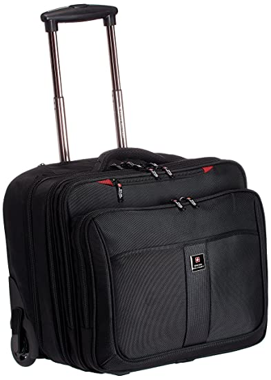 b03d94e3f6 Swiss Military Polyester 45 liters Black Laptop Trolley Bag (LTB-3)   Amazon.in  Bags