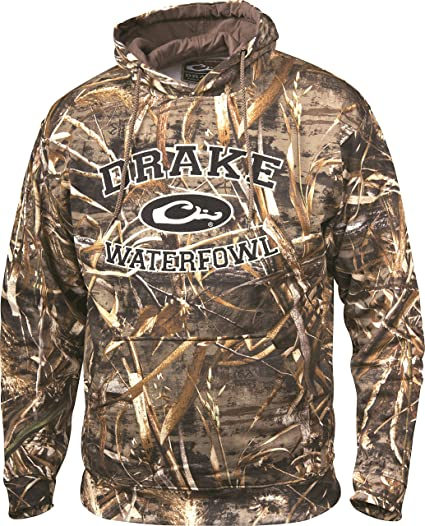 44d3ed9d4d826 Drake Waterfowl Hoodie Embroidered Collegiate Max 5 with Ribbed Cuffs and  Drawstring Hood (3X)