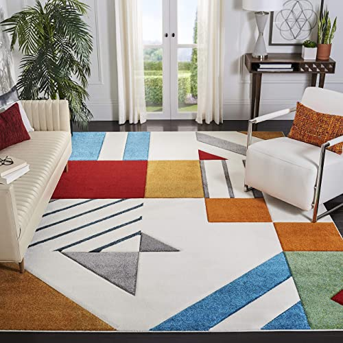 Safavieh Hollywood Collection HLW709B Mid-Century Modern Non-Shedding Stain Resistant Living Room Bedroom Area Rug