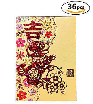 chinese red envelopes lucky money envelopes 2018 chinese new year dog envelope 36 envelopes