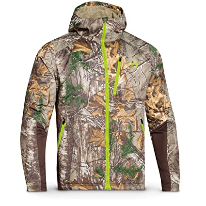 f0af477ae2cf9 Under Armour Coldgear Infrared Scent Control Barrier Jacket - Men's Mossy  Oak Treestand / Velocity Small