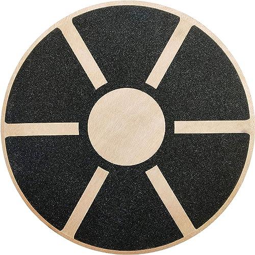 BalanceFrom Non-Slip Wooden Wobble Balance Board Core Trainer 15.55-inch Diameter