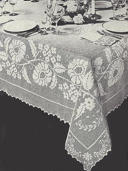Amazon Vintage Crochet Pattern To Make Filet Floral
