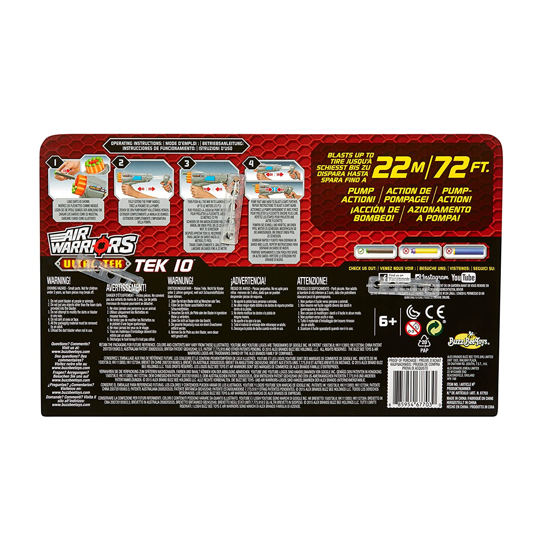 Amazon.com: Air Warriors Ultra-Tek Protector foam dart blaster by ...