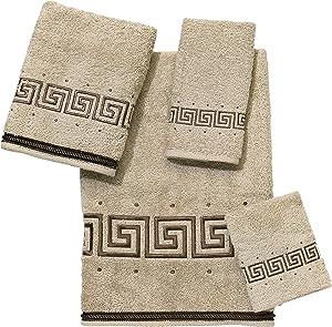Avanti Linens Premier Athena Embroidered 4-Piece Decorative Towel Set Linen