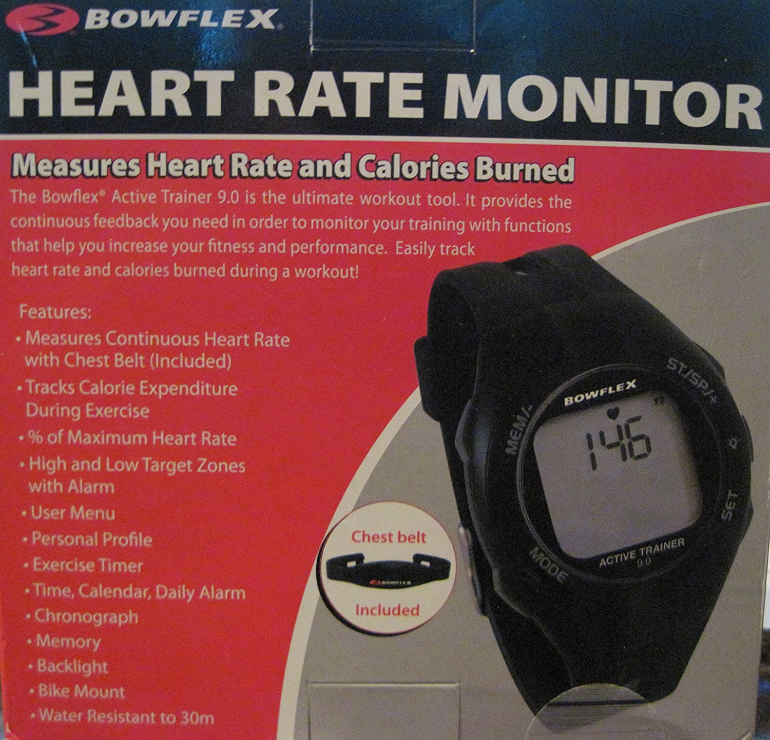 Bowflex Active Trainer Heart Rate Monitor 90 With Chest Photo Of A Showing Strap And Watch Health Personal Care