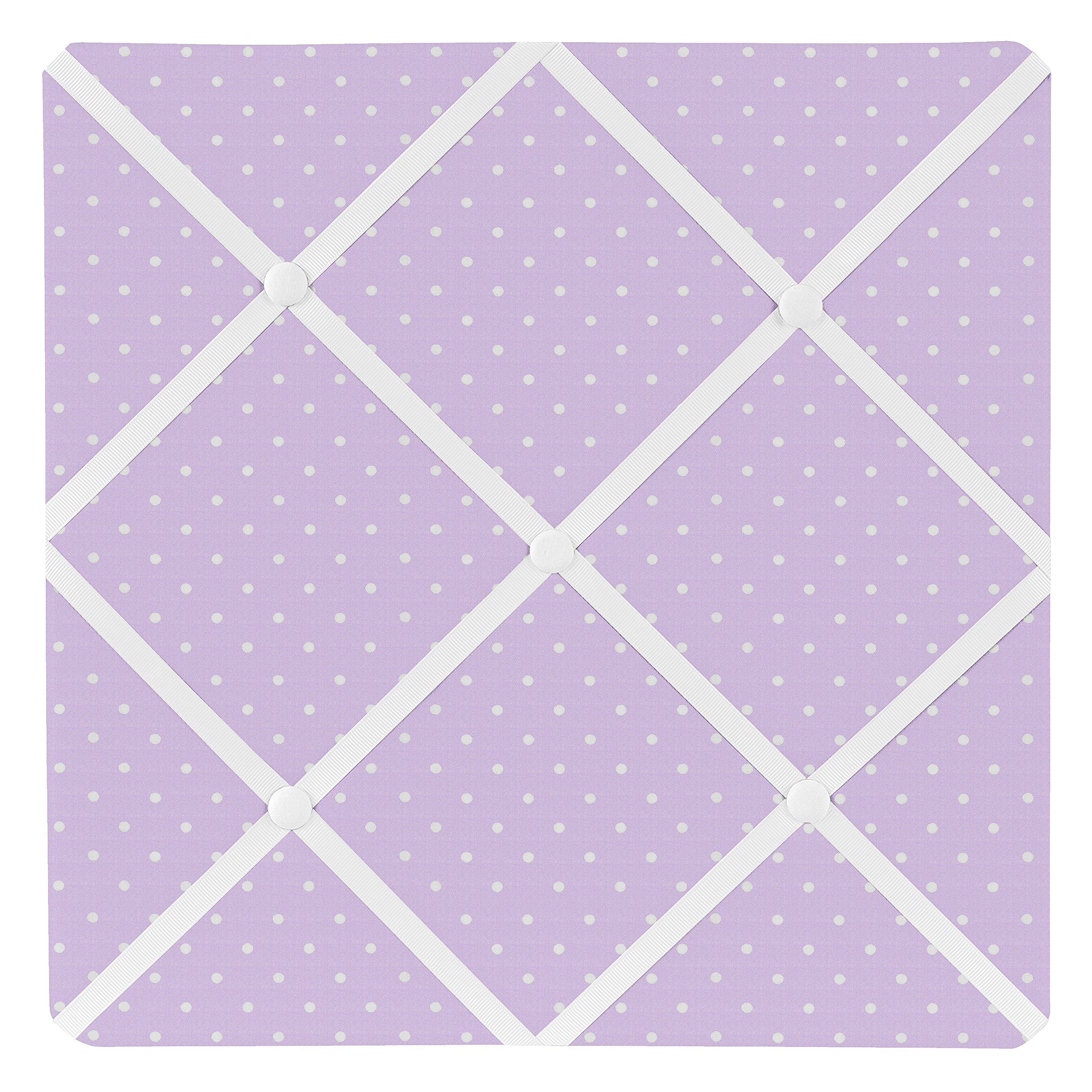 Sweet Jojo Designs Purple Polka Dot Fabric Memory/Memo Photo Bulletin Board for Mod Dots Collection by Sweet Jojo Designs