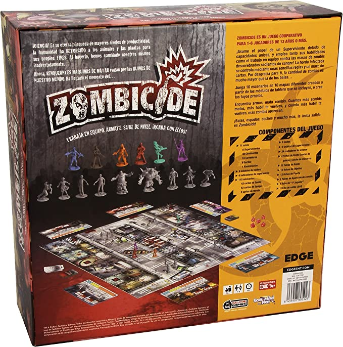 Edge Entertainment - Zombicide, juego de mesa (ZC01) , color ...