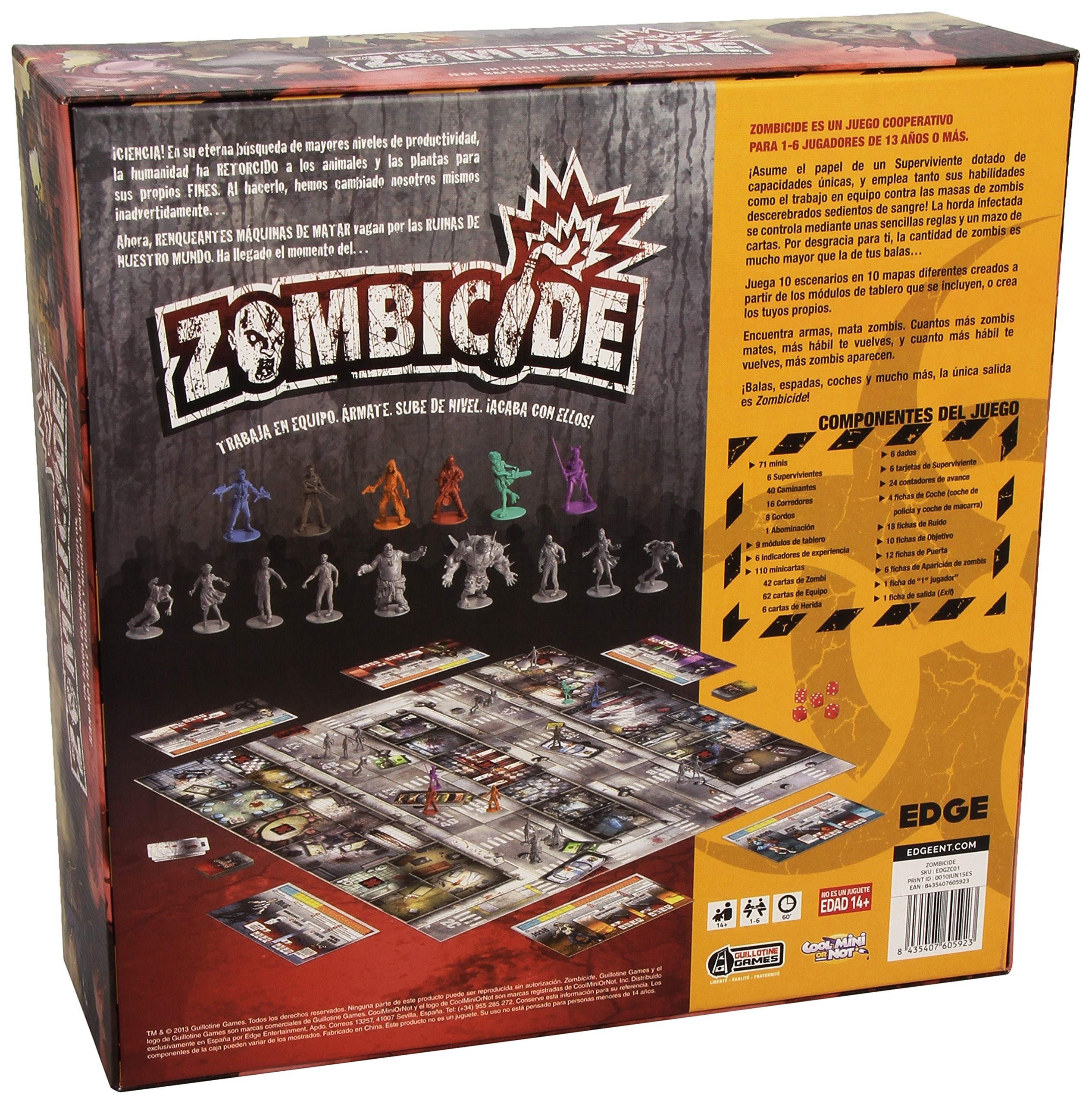 Comprar Edge Entertainment - Zombicide, juego de mesa (ZC01)