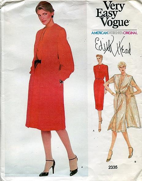 Amazon.com: Vogue American Designer Original Pattern 2335 Edith Head ...