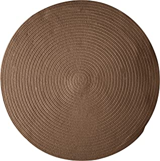 product image for Colonial Mills Bristol Polypropylene Braided Round Rug, 10-Feet, Bark