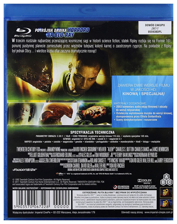 Amazon.com  Alien 3  Blu-Ray   Region Free  (English audio. English  subtitles)  Holt McCallany bf43a5627