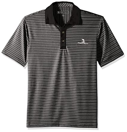 6a6af26059 Buy Pebble Beach Men's Salinas Golf Polo Shirt with Heather Jersey Stripe  Online at Low Prices in India - Amazon.in