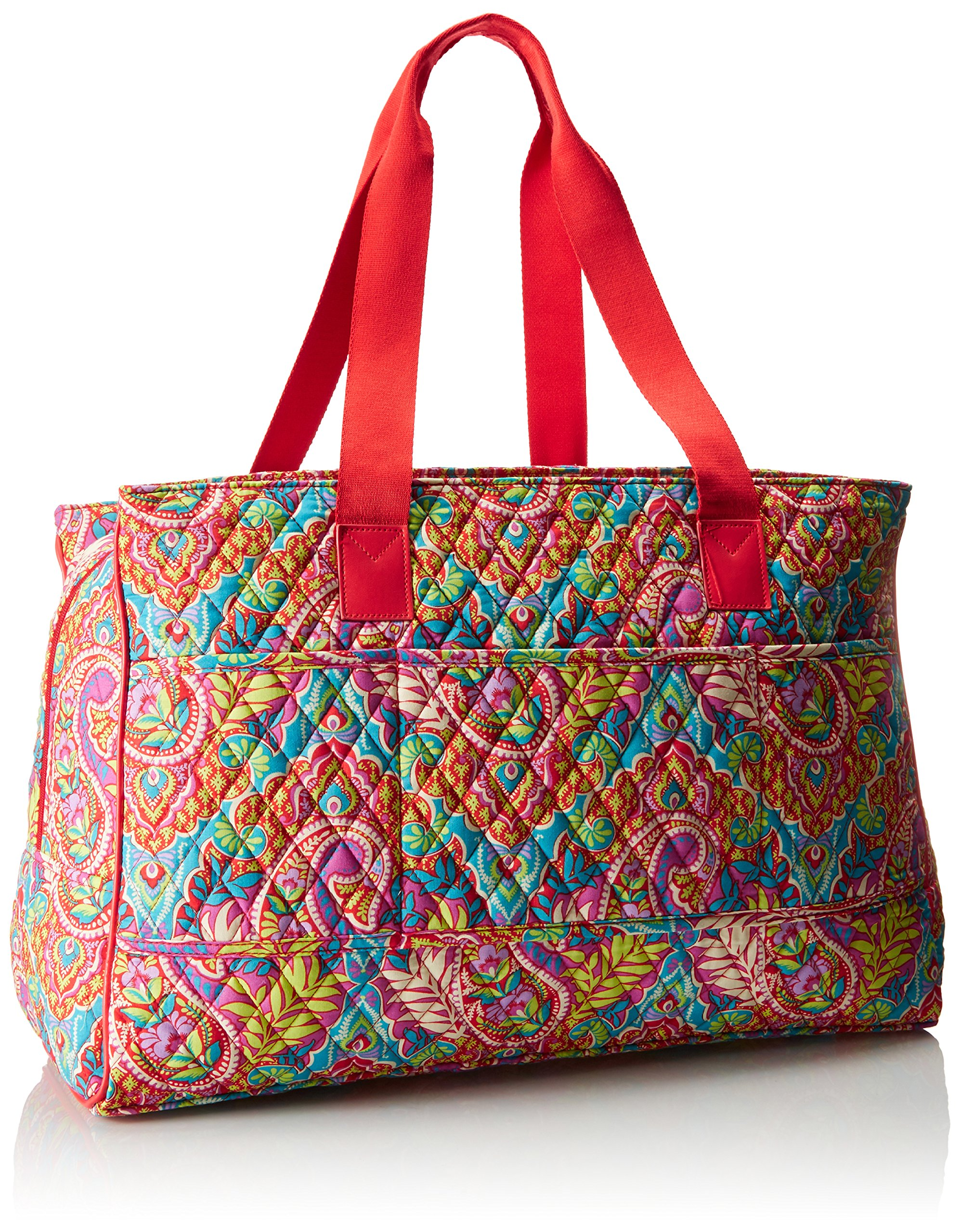 Vera Bradley Women's Triple Compartment Travel Bag, Paisley in Paradise Red by Vera Bradley (Image #2)