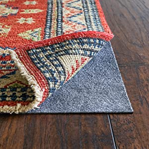 """RUGPADUSA, RugPro, 8'x10', 1/16"""" Thick, Felt and Rubber, Ultra Slim Non-Slip Rug Pad, Perfect for High Traffic Areas and Entryways, Many Custom Sizes"""