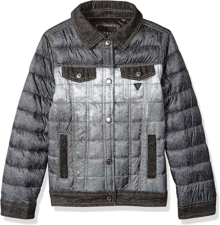 GUESS Girls Big Mini Me Denim Print Puffer Jacket