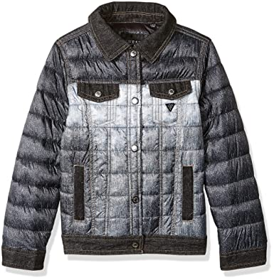 07ac4ccab9a Amazon.com  GUESS Girl s Denim Puffer Jacket (7-14)  Clothing