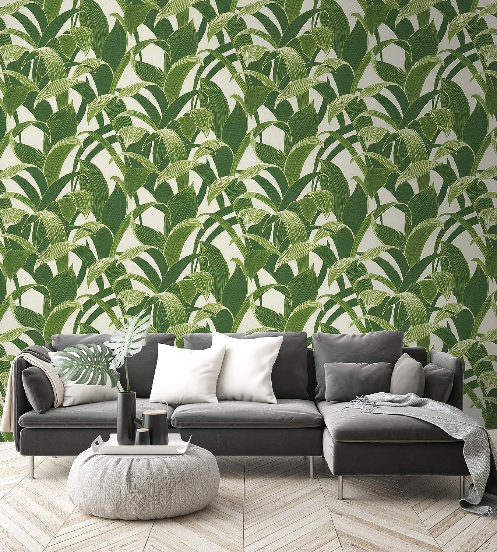 NextWall Banana Groves Peel and Stick Wallpaper Green
