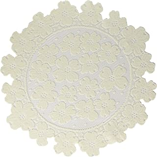 product image for Heritage Lace Round Dogwood Doily, 14-Inch, Ecru, Set of 2