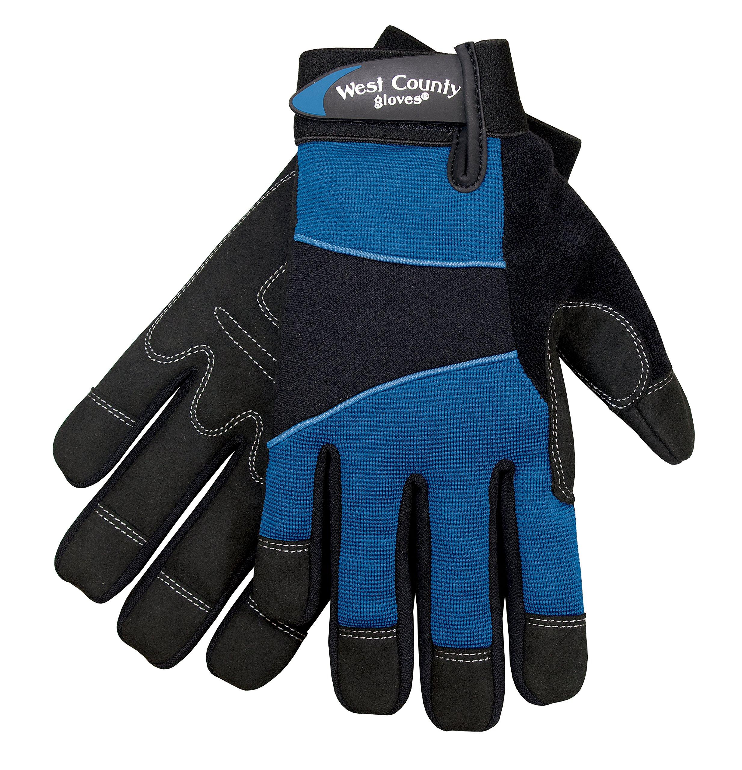 West County Gardener 012T/M Women's Work Glove, Medium, Teal