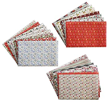 3 Roll Gift Wrapping Paper Set   Pre Cut Christmas Gift Wrapping Paper