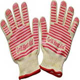 Revolutionary 932F Extreme Heat Resistant EN407 Certified Gloves - Thick but Light-Weight & Flexible, Ladies Small Size,