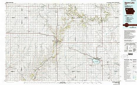 Amazon Com Yellowmaps Storm Lake Ia Topo Map 1 100000 Scale 30 X