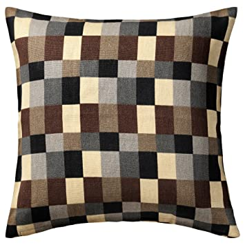 Amazon Ikea Stockholm Cushion Cover Check Beige Brown