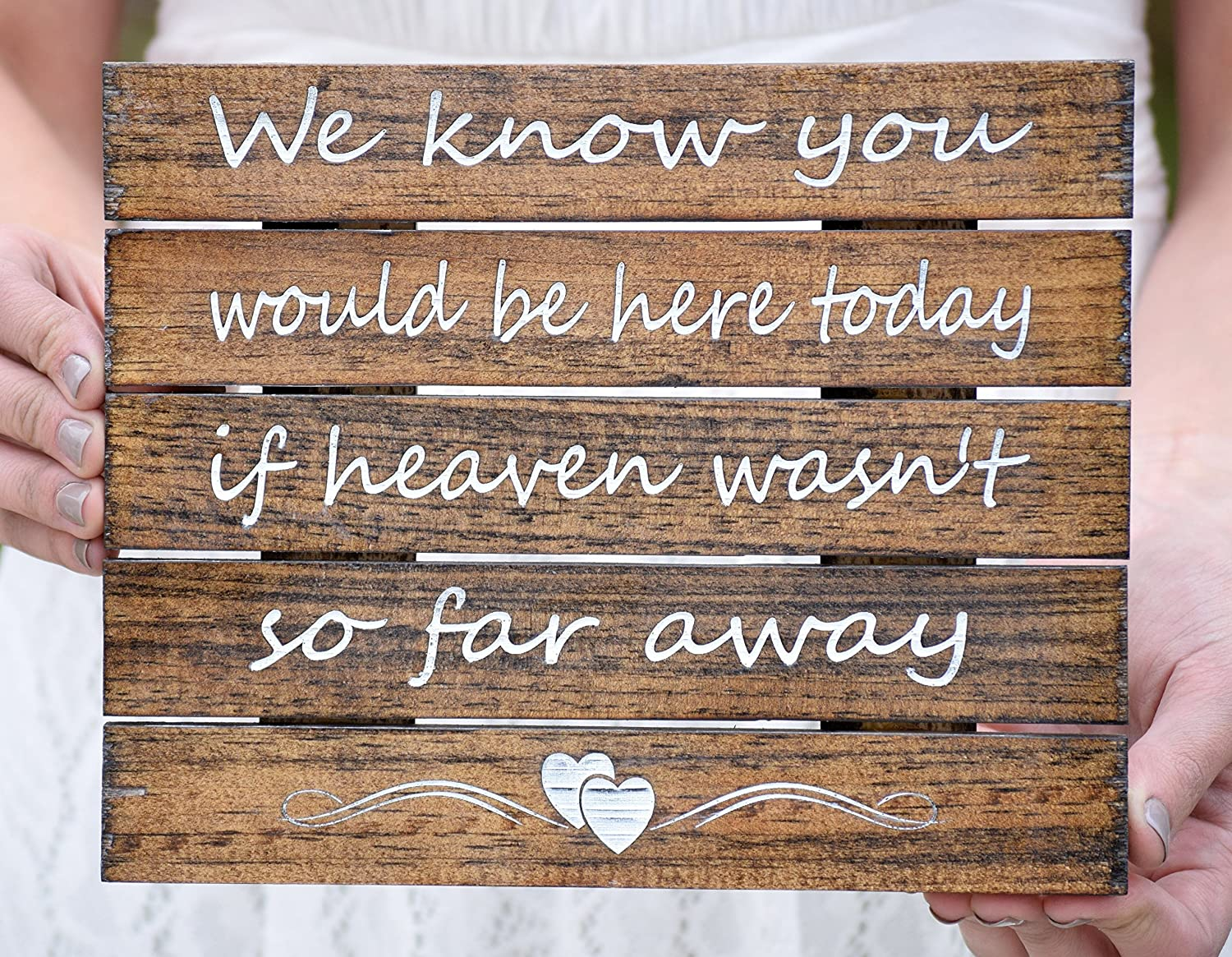 We Know You Would Be Here Today if Heaven Wasn't So Far Away Sign - Wedding Remembrance Sign -Memory Sign -Memory Table Decor In Memory Sign