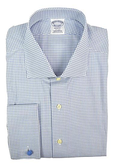 edbf47d3fa Brooks Brothers Men's Regent Slim Fit Non Iron Dress Shirt Blue Gray ...