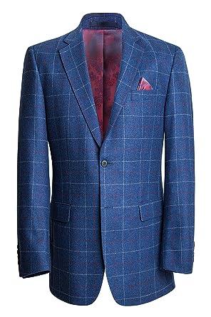 Blaue tweed jacke