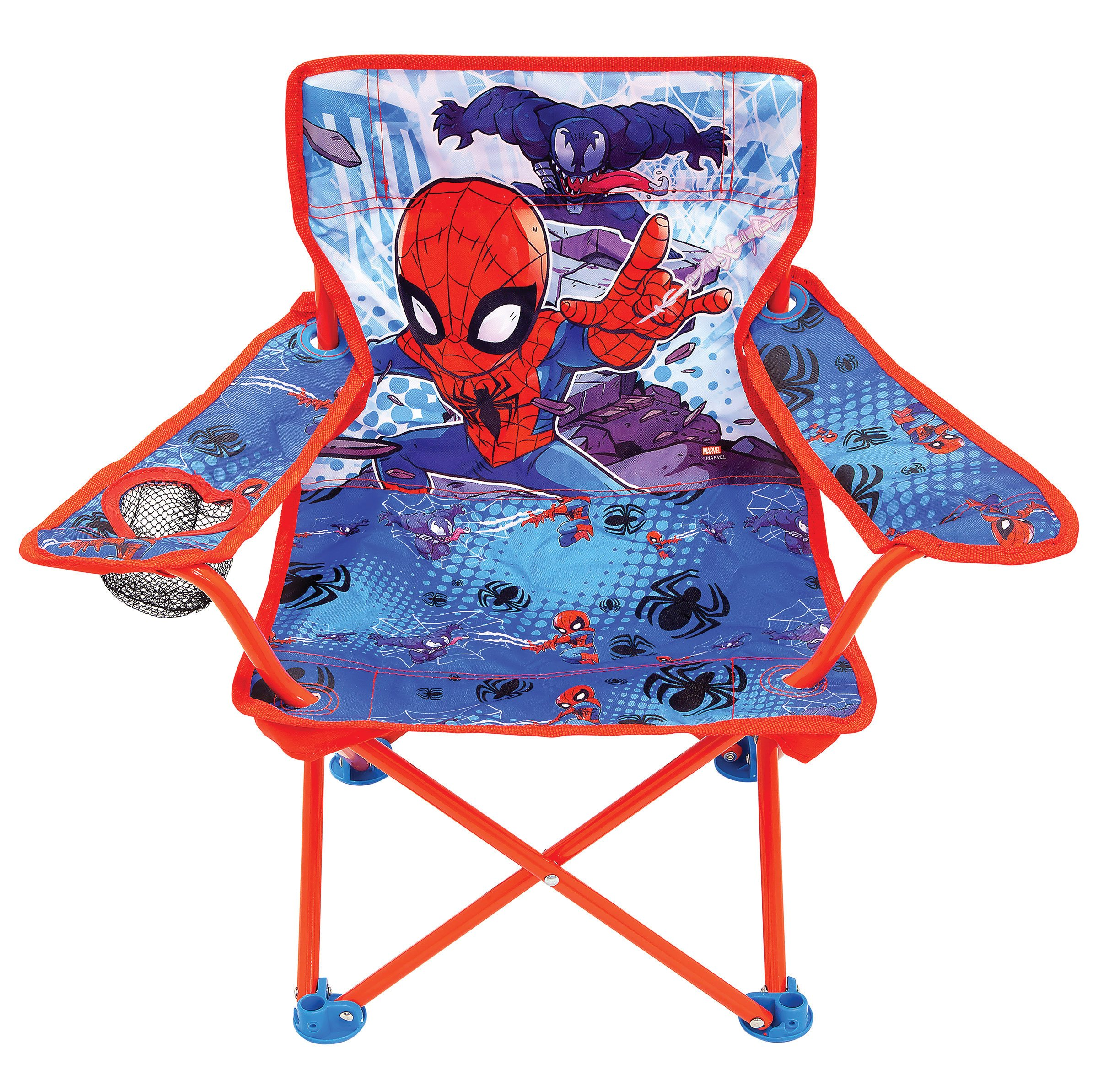 Jakks Pacific Spider-Man Adventures Camp Chair for Kids, Portable Camping Fold N Go Chair with Carry Bag by Jakks Pacific