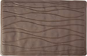 Carnation Home Fashions Small 13-Inch by 20-1/2-Inch Rubber Bath Tub Mats, Brown