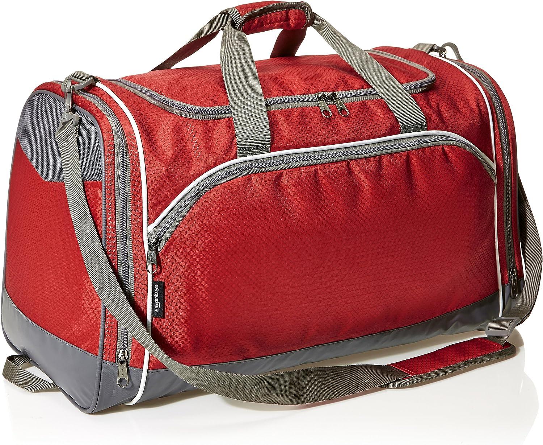 Basics Lightweight Durable Sports Duffel Gym and Overnight Travel Bag