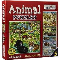 Creative Educational Aids P. Ltd. Animal Puzzle Part 5 (Multi-Color, 25,30,35,40 Pieces)