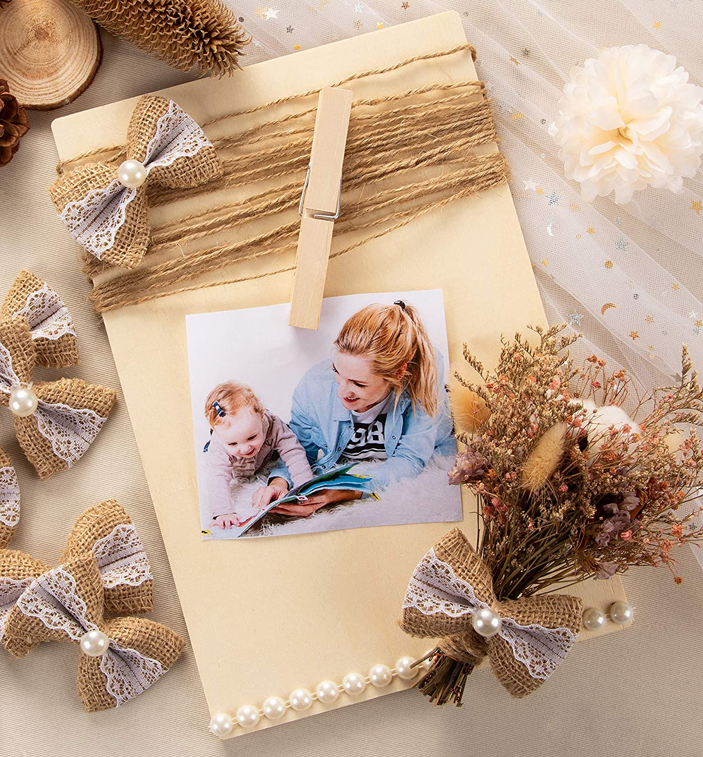 Wedding Decoration 6-Pack Rectangle Wooden Plaque Signs for Home DIY Craft 10.6 x 7 x 0.25 inches Unfinished Wood Plaques
