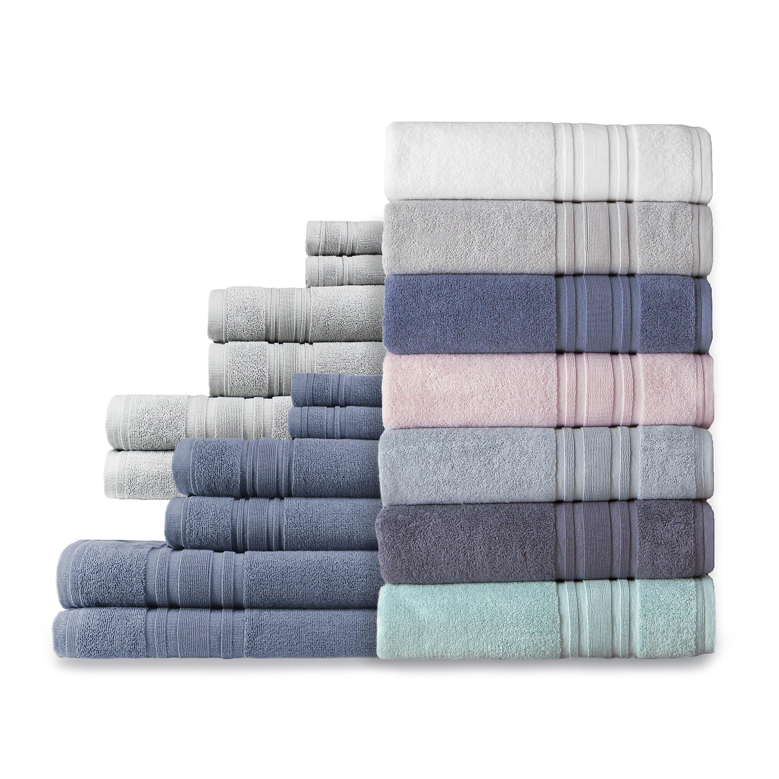 Melange Home Luxury Hotel Cotton Turkish Towel Collection (Bath Sheet Set) Slate Blue Set of 6