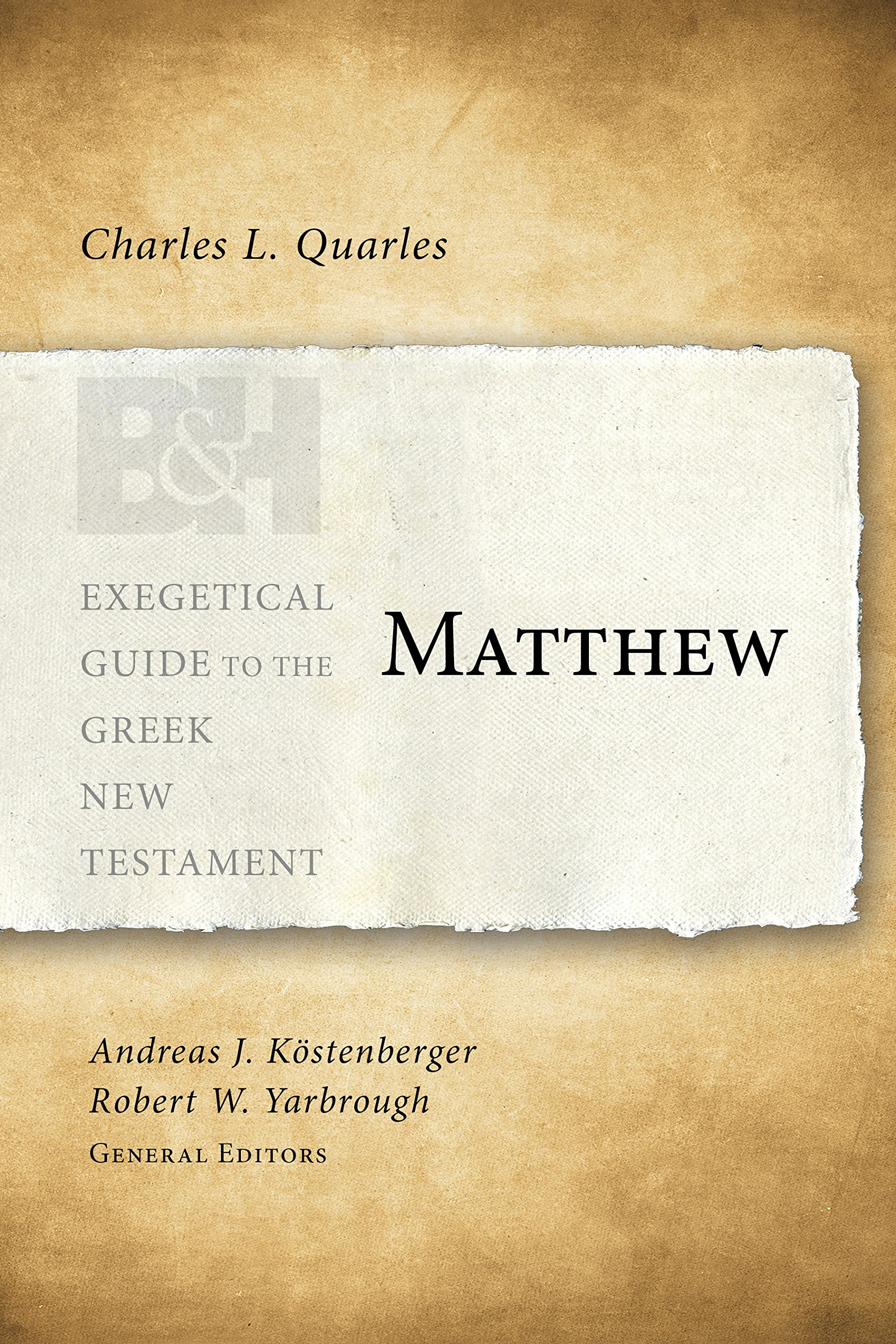 Download Matthew (Exegetical Guide to the Greek New Testament) ebook