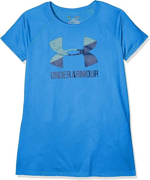 Under Armour Childrens Big Logo Tee Solid Ss Raglan Sleeves Short-Sleeve Shirt