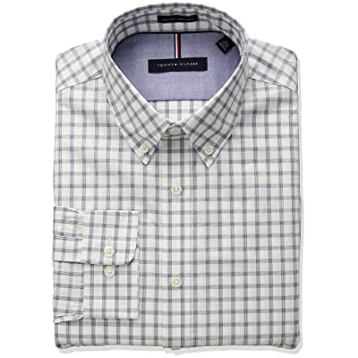 679a604f1 Tommy Hilfiger Men's Non Iron Slim Fit Multi Check Dress Shirt ...