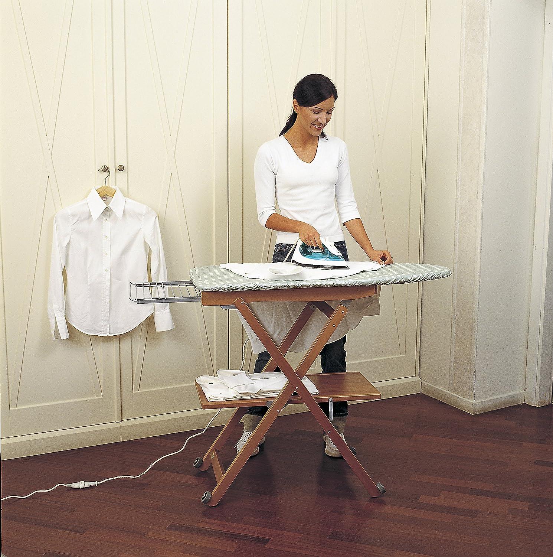Arredamenti Italia Tabla de planchar STIROCOMODO Color: madera de cerezo Ar-It il cuore del legno Regulable madera Plegable